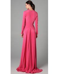 Derek Lam | Pink Peplum Back Gown | Lyst