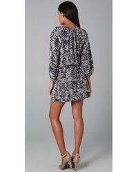Joie - Blue Molly Animal-print Dress - Lyst