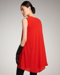 Lanvin | Red Cape-sleeve Dress | Lyst