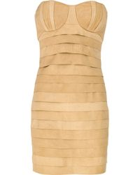 Camilla & Marc - Natural Python Leather Mini Dress - Lyst