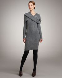Lanvin | Gray Cashmere Cable-knit Dress | Lyst