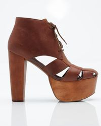 Jeffrey Campbell | Ford Lace Up in Brown | Lyst