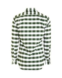 Thom Browne - Green Cotton Check Shirt for Men - Lyst