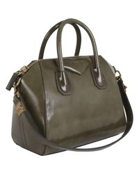 Givenchy - Green Khaki Spazzolato Antigona Tote Bag - Lyst