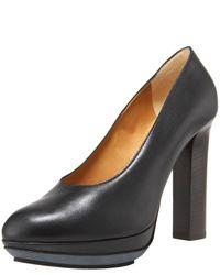 Lanvin | Black Thick-heel Platform Pump | Lyst