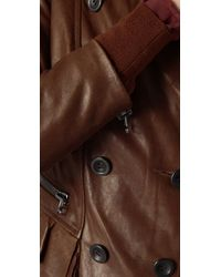 3.1 Phillip Lim - Brown Ruffle Hem Jacket - Lyst