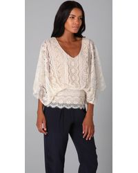 Beyond Vintage | White Dolmansleeve Lace Top Store Top Seller | Lyst
