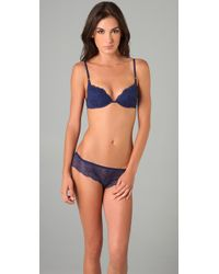 Calvin Klein - Blue Envy Stretch-satin and Lace Briefs - Lyst