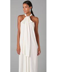 Derek Lam | White Halter Gown | Lyst