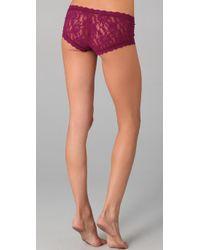 Hanky Panky | Purple Signature Lace Boy Shorts | Lyst