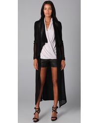 Helmut Lang | Black Long Sheer Cardigan | Lyst
