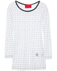 Z Spoke by Zac Posen | White Cursive Heart-print Top | Lyst
