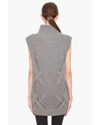 3.1 Phillip Lim - Gray 3d Cable Tunic in Grey Melange - Lyst