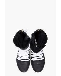 Kris Van Assche - Black Laced Zip Sneakers for Men - Lyst