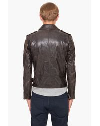Marc Jacobs - Black Hand Dyed Leather Jacket for Men - Lyst