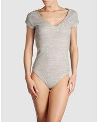 IRO | Gray Juno Bodysuit | Lyst