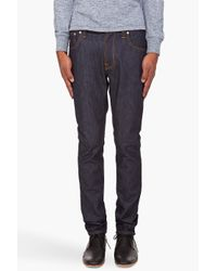 Nudie Jeans | Blue Thin Finn Dry Stretch Jeans for Men | Lyst