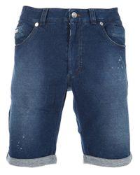 Paolo Pecora | Blue Denim Short for Men | Lyst