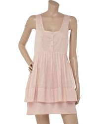 Richard Nicoll | Pink Cotton-voile Dress | Lyst