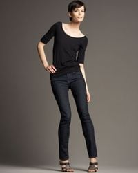 7 For All Mankind | Blue Roxanne Slim Fit Mid Rise Jean | Lyst