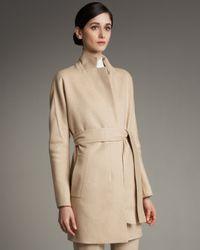 Akris | Natural Kimono-sleeve Coat | Lyst