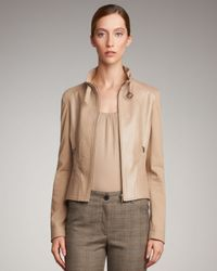 Akris Punto | Natural Mixed-fabric Zip Jacket | Lyst