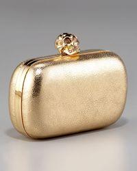 Alexander McQueen | Metallic Skull-clasp Classic Box Clutch | Lyst