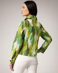 Berek - Green Leaf-print Jacket - Lyst