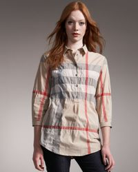 Burberry Brit | Natural Check Tunic Shirt | Lyst