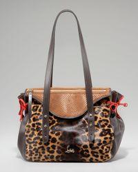 Christian Louboutin | Multicolor Pola Leopard-print Calf Hair Shoulder Bag | Lyst
