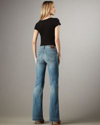 Citizens of Humanity - Blue Hutton Tide High-rise Wide-leg Jeans - Lyst