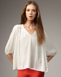 Current/Elliott - White Picnic Gauze Top - Lyst
