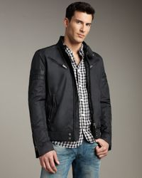 DIESEL | Black Jupenno Nylon Jacket for Men | Lyst
