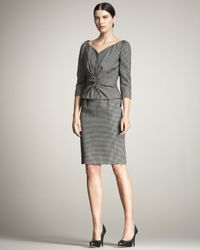 Dior - Gray Ruched Rosette-front Jacket - Lyst