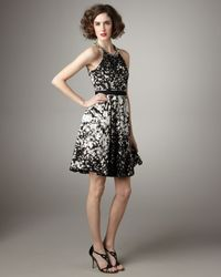 Elie Tahari | Black Bryce Printed Dress | Lyst