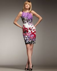 Elie Tahari - Multicolor Malia Floral-print Dress - Lyst