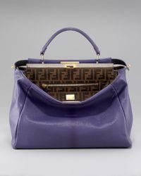 Fendi | Purple Peekaboo Tote, Violet | Lyst