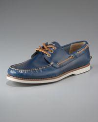 Frye | Sully Boat Shoe, Blue for Men | Lyst