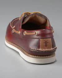 Frye - Purple Sully Boat Shoe, Burgundy for Men - Lyst