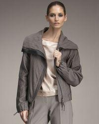 Giorgio Armani | Gray Ottoman Blouson Jacket | Lyst