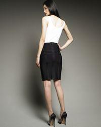 Hervé Léger | Black Leonie High-waist Skirt | Lyst
