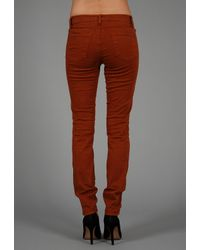 J Brand | Red Luxe Twill 811 Mid Rise Skinny Leg | Lyst