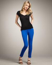 J Brand | Blue 811 Mid-rise Skinny Twill Jeans, Royal | Lyst