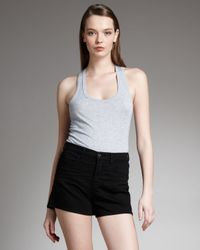 J Brand | Black Dita High-rise Shadow Shorts | Lyst
