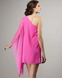 Jay Godfrey - Pink Santorini Cape-sleeve Dress - Lyst