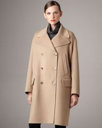 Jil Sander | Natural Oversized Double-breasted Coat | Lyst