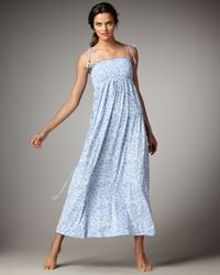 Juicy Couture | Blue Fan Festival Printed Maxi Dress | Lyst