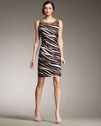 kate spade new york - Brown Joselle Zebra-print Dress - Lyst