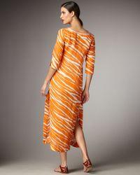 Kate Spade | Orange Amedee Zebra-print Caftan Dress | Lyst