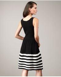 kate spade new york | Black Sandra Stripe-skirt Sweater Dress | Lyst